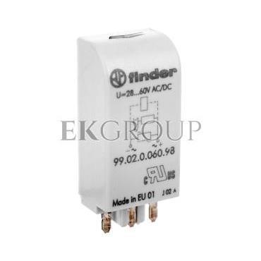 Moduł EMC, LED zielony warystor 28-60V AC/DC 99.02.0.060.98-99028