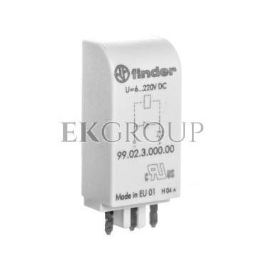 Moduł sygnalizacyjny dioda gaszeniowa 6-220V DC polaryzacja A1  99.02.3.000.00-99016