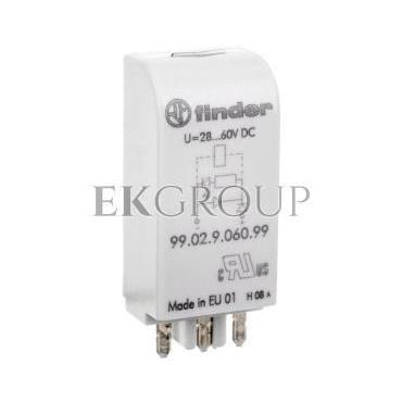 Moduł EMC, LED zielony   dioda 28-60V DC, polaryzacja A1  99.02.9.060.99-99030
