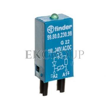 Moduł sygnalizacyjny LED zielony   warystor 110-240V AC/DC 99.80.0.230.98-99018