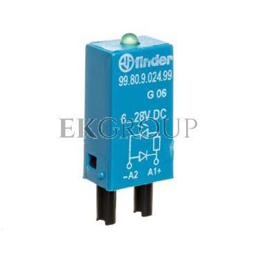 Moduł sygnalizacyjny LED zielony   dioda gaszeniowa 6-24V DC polaryzacja A1  99.80.9.024.99-99019
