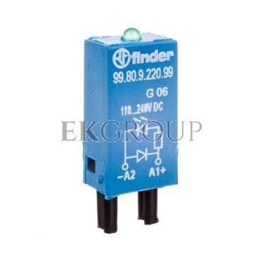 Moduł EMC, LED zielony dioda 110-220V DC, polaryzacja A1  99.80.9.220.99-99032
