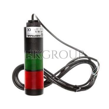 Kolumna sygnalizacyjna zielona/czerwona światło stałe 24V AC/DC IP65 LED Kompakt 37 LED 698.120.75-98523