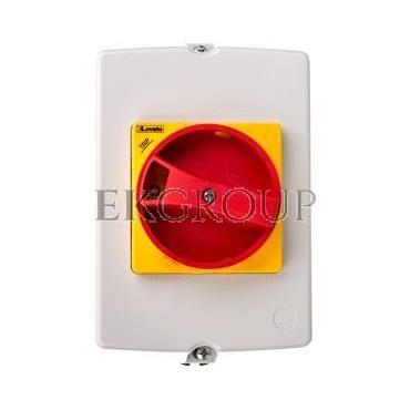 Obudowa do montażu powierzchniowego IP65 do SM1R szerokość 100mm w komplecie żółto/czerwone pokrętło SM1Z1715R-90739