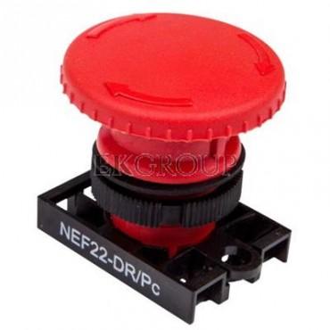 Napęd przycisku grzybkowego czerwony przez obrót W0-N-NEF22-DR/P C-99747