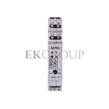 Przekaźnik kolejności, zaniku i asymetrii faz 10A 1P CKM-01 EXT10000019-101796