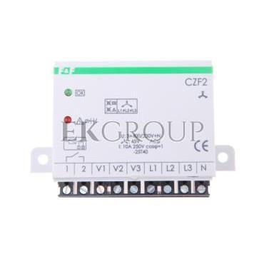 Przekaźnik zaniku i asymetrii faz z kontrolą styków stycznika 10A 1Z 4sek 45V CZF-2-101758