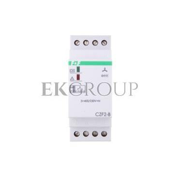 Przekaźnik zaniku i asymetrii faz z kontrolą styków stycznika 10A 1Z 4sek 55V CZF-2B-101760