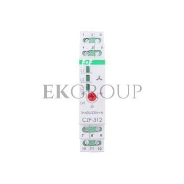 Przekaźnik zaniku i asymetrii faz 5A 1Z1R bez opóźnienia 0,2sek 40-55V CZF-312-101772