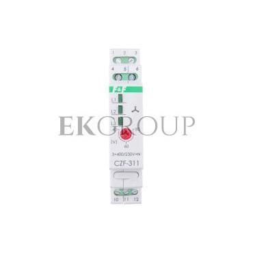 Przekaźnik zaniku i asymetrii faz 10A 1P 4sek 40-80V CZF-311-101776
