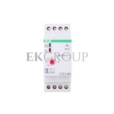 Przekaźnik zaniku i asymetrii faz z kontrolą styków stycznika 10A 1Z 4sek 40-80V CZF2-BR-101782