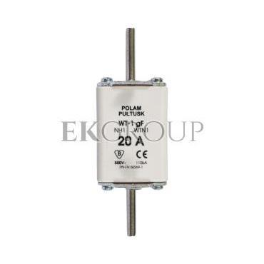 Wkładka bezpiecznikowa NH1 20A gF 500V WT-1 004139110-95707