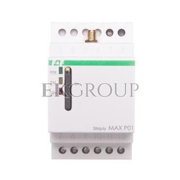 Przekaźnik zdalnego sterowania GSM (SMS) 2xwy/2xwe załącz/wyłącz/powiadomienie SIMply MAX P01-115902