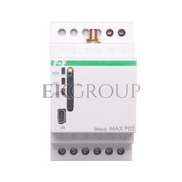 Przekaźnik zdalnego sterowania GSM (CLIP) 2xwy/2xwe sterowanie bramą SIMply MAX P02-115905