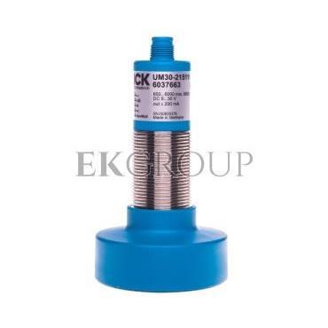 Czujnik ultradźwiękowy M30 600-6000mm 9-30V DC PNP M12 5-pinów 1Hz metal UM30-215111 6037663-114226