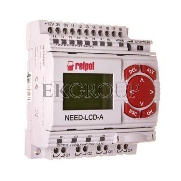 Przekaźnik programowalny 8we, 4wy z wyświetlaczem i klawiaturą NEED-12DC-22-08-4R-D 859358-115989