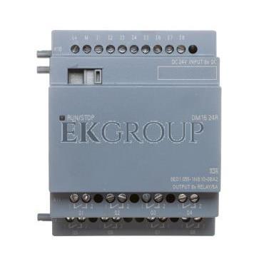 Moduł rozszerzeń zasilanie 24V DC 8 wejść cyfrowych 24V DC 8 wyjść przekaźnikowych 4TE 6ED1055-1NB10-0BA2-115334