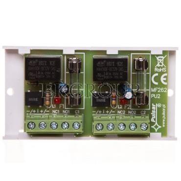 Moduł przekaźnikowy z 2 przekaźnikami 10-16V AC/DC PK2 AWZ512-115337