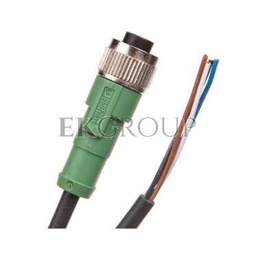Kabel czujnika/urządzenia wykonawczego 4P M12 prosty, wolny koniec przewodu 5m SAC-4P- 5,0-PUR/M12FS 1668124-116403