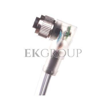 Kabel 4P 5m wolny koniec przewodu gniazdo kątowe M12 z LED SAC-4P-5,0-PUR/M12FR-3 1668302-116270