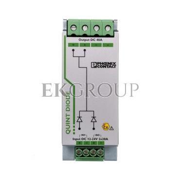 Moduł diodowy szyn nośnych 12-24V DC/2x20A lub 1x40A DIN 2320157-115682