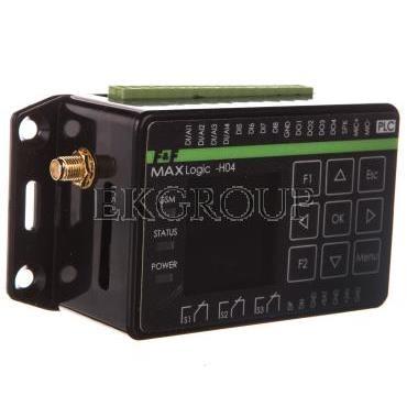 Przekaźnik programowalny 4 wej cyfrowe/analogowe 4 wej cyfrowe 4 wyj cyfrowe 3 wyj przekaźnikowe GSM MAX H04-115936