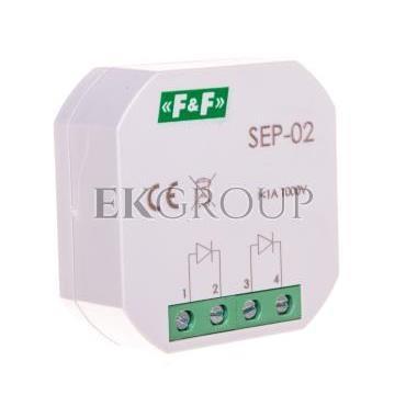 Separator sygnału wejściowego 1A 1000V podtynkowy SEP-02-115573