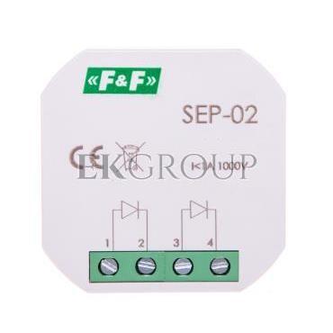 Separator sygnału wejściowego 1A 1000V podtynkowy SEP-02-115574
