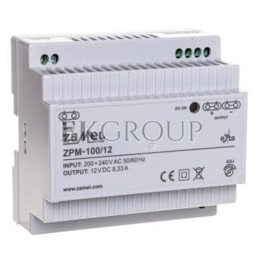 Zasilacz impulsowy TH-35 100W 12V DC ZPM-100/12 EXT10000212-118409