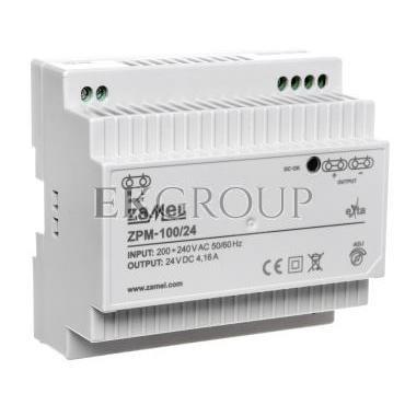 Zasilacz impulsowy TH-35 100W 24V DC ZPM-100/24 EXT10000213-118411