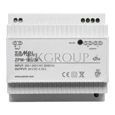 Zasilacz impulsowy TH-35 100W 24V DC ZPM-100/24 EXT10000213-118412