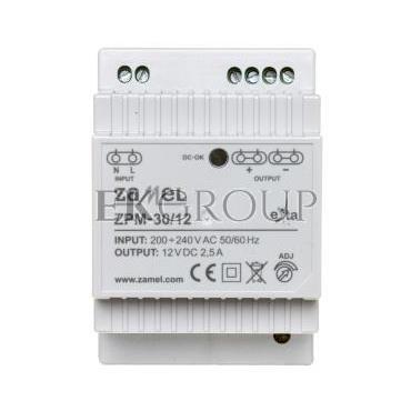 Zasilacz impulsowy TH-35 30W 12V DC ZPM-30/12 EXT10000208-118414