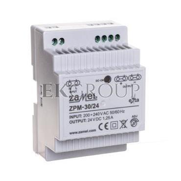 Zasilacz impulsowy TH-35 30W 24V DC ZPM-30/24 EXT10000209-118415