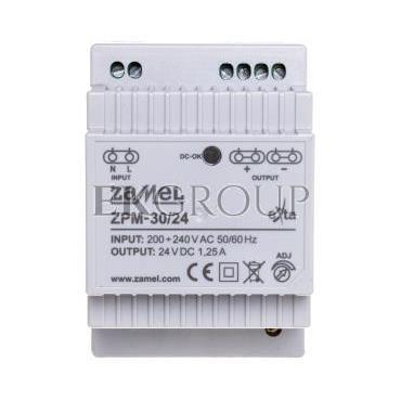 Zasilacz impulsowy TH-35 30W 24V DC ZPM-30/24 EXT10000209-118416