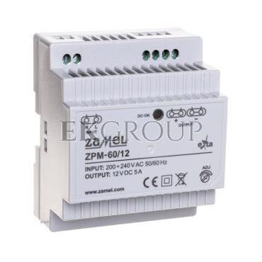 Zasilacz impulsowy TH-35 60W 12V DC ZPM-60/12 EXT10000210-118417