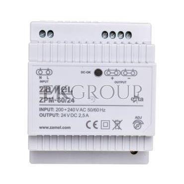 Zasilacz impulsowy TH-35 60W 24V DC ZPM-60/24 EXT10000211-118420
