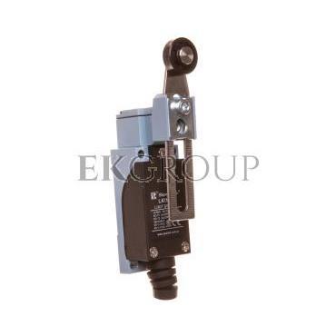 Łącznik krańcowy 1Z 1R metal/tworzywo regulowana dźwignia z rolką LK\108-118013