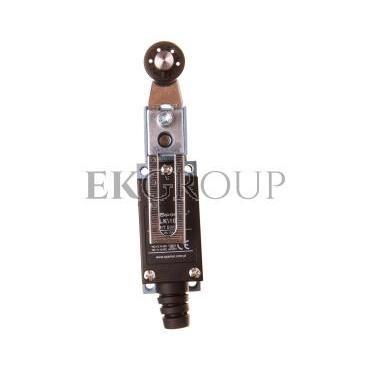 Łącznik krańcowy 1Z 1R metal/tworzywo regulowana dźwignia z rolką LK\108-118014