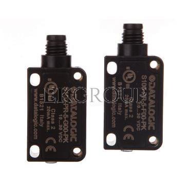 Czujnik fotoelektryczny 10-30V DC M8 4-pinowy PNP zadzałanie 0-12m  S100-PR-5-FG00-PK -113987