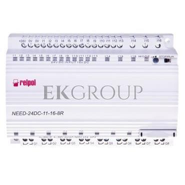 Przekaźnik programowalny 24V DC 16we, 8wy bez wyswietlacza i klawiatury NEED-24DC-11-16-8R 857366-115869