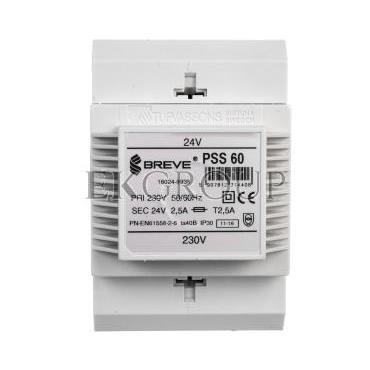 Transformator 1-fazowy modułowy PSS 60VA 230/24V 16024-9938-116997