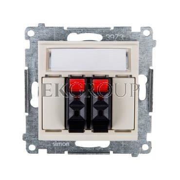 Simon 54 Gniazdo głośnikowe podwójne kremowe DGL32.01/41-123213