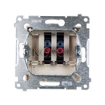 Simon 54 Gniazdo głośnikowe podwójne kremowe DGL32.01/41-123214