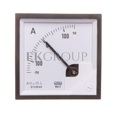 Amperomierz analogowy 72x72 N IP50 BB17  /-150A/ -60mV pozycja pracy C3 K=90 st. bez atestu KJ MA17N BB1700000000-119309