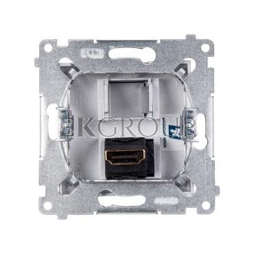 Simon 54 Gniazdo HDMI srebrny mat DGHDMI.01/43-129476
