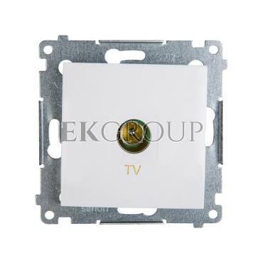 Simon 54 Gniazdo antenowe TV końcowe białe DAK1.01/11-120380