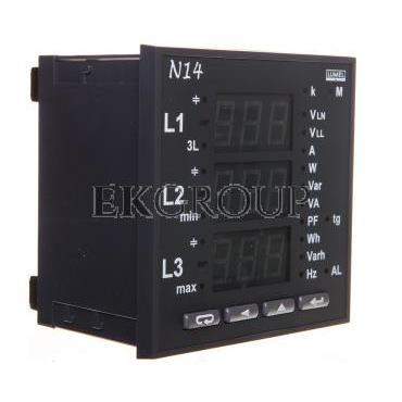 Miernik sieci 3-fazowej wej. I 5A wej. U 3x57,7/100V bez atestu KJ N14 21000-118913
