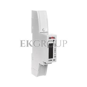 Licznik energii elektrycznej 1-fazowy 50A 230V wyświetlacz LCD LEM-02 EXT10000033-119115