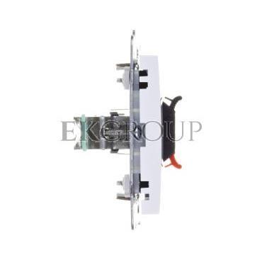 AS Gniazdo głośnikowe pojedyncze białe GG-1G/m/00-129569