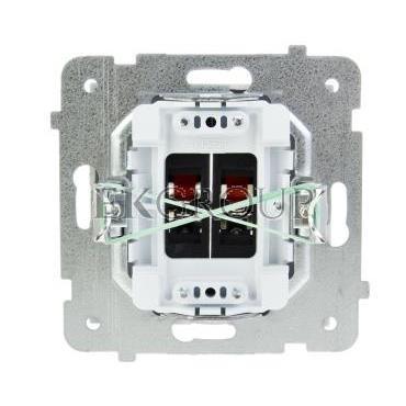 AS Gniazdo głośnikowe podwójne białe GG-2G/m/00-129577